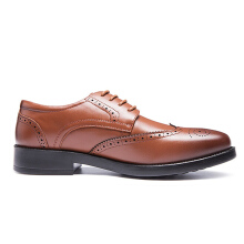 AOKANG New Arrival men dress shoes genuine leather men's wedding shoes brand men shoes brogue shoes high quality brown