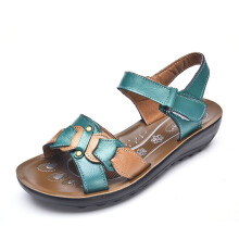 Jantens Designer Genuine Leather Sandals Women Flat Sandals Platform Summer Shoes Ladies