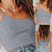 Women SummerCasual Off-Should T-Shirt Sleeveless Tops Blouse