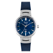 Alexandre Christie AC 2756 LD BTUBU Ladies Blue Mother of Pearl Dial Blue Stainless Steel  [ACF-2756-LDBTUBU]
