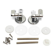 [kingstore] Zinc Alloy Toilet Hinge With Fittings Screw Replacement Closestool Seat Hinges Silver