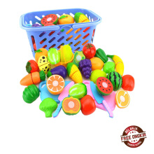 Farfi Fruit Vegetable Food Cutting Set Reusable Role Play Pretend Kitchen Kids Toys as the pictures