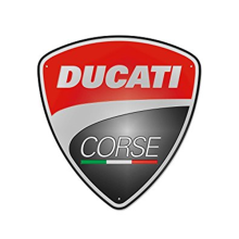 Ducati Corse Metal Sign Red