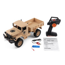 COZIME WLtoys 124301 2.4G 1/12 4WD Off-road RC Military Truck Remote Control Car Yellow