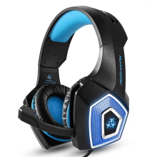 Vinmori V1 Stereo Gaming Headset Casque Surround Sound Over-Ear Headphones with Mic LED Light for PS4 Xbox One PC