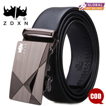 ZDXN Geometric high-end men's automatic buckle belt - Black(120cm)