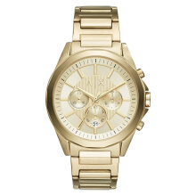 Armani Exchange AX1504 Chronograph Men Champagne Pattern Dial Gold Stainless Steel Strap [AX1504]