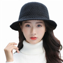 SiYing fashion solid color thick autumn and winter literary ladies wool knit hat