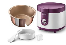 PHILIPS HD3116 Rice Cooker 1L HD3116/30 - Ungu Purple