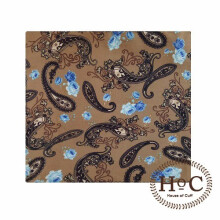 HOUSEOFCUFF Pocket Square SapuTangan Jas  BATIK POCKET SQUARE Brown