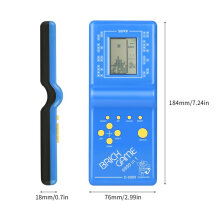 [OUTAD] Kids Electronic Tetris Brick Game Handheld Game Machine LCD Educational Toys Multicolor