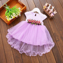 Baby Girls Dress Spring Autumn Summer Kid Children Party Wedding Princess 6