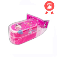 Lock & Lock Hello Kitty Cook 2 Floor Brand Lunch Set Color Pink