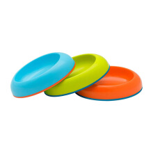 BOON Dish Edgeless Stay-Put Bowl - Blue/Orange/Green