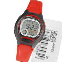 Unisex LW-200-4AVDF D40H183MRHHT Digital Red Black