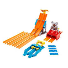 Hot Wheels Race Rapid Relay Dual Launcher w/ Die Cast