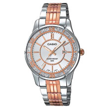 Casio LTP-1358RG-7AVDF - Enticer Ladies - Dual-tone Rose-gold Ion Plated [LTP-1358RG-7AVDF]