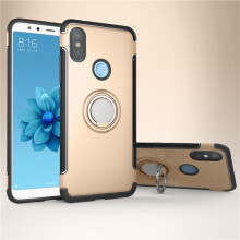 RockWolf Xiaomi MI 6X case Silicone metal ring shell magnetic bracket soft shell