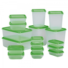 Ikea Pruta Food Container Set of 17 Pcs