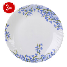 ARCOPAL Decor Aliya Blue Dinner Plate 26 cm Set of  3