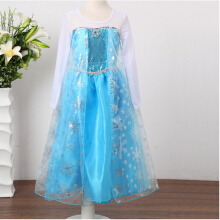 Anamode Girls Princess Dress Long Sleeve Cartoon Dresses Party Cosplay Clothes  -