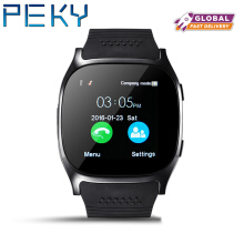PEKY T8 Bluetooth Smart Watch Support SIM TF Card LBS Locating with 0.3MP camera smartwatch Sports Wristwatch for Android