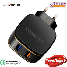 JOYSEUS Smart Quick Charger QC3.0 2 Port Dual USB Fast Charger Power Adapter 12V/1.5A For XIAOMI HUAWEI LG SAMSUNG Mobile Phone Black