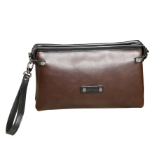 SiYing Imported original fashion men's bag casual clutch bag strap bag Brown