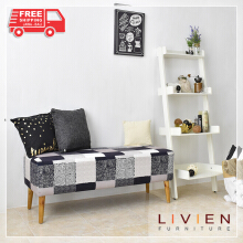 LIVIEN Furniture - Kursi / Sofa / Bangku / Arrvin Sofa Bench Grey