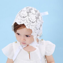 [OUTAD] Charming Breathable Baby Girls Sun Hat Summer Cute Lace Bowknot Cap White