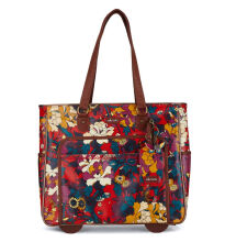 Sakroots Rolling Tote Crimson Flower Power Multicolor Others
