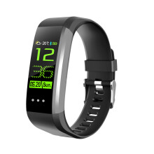 Curren Smart band Fitness Tracker Step Counter Activity Monitor Band Alarm Clock for iphone Android Black