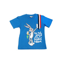 KIDS ICON - Kaos Anak Laki-laki LOONEY TUNES with Bugs Bunny Printing Character Blue T-Shirt  - LB1K1000180