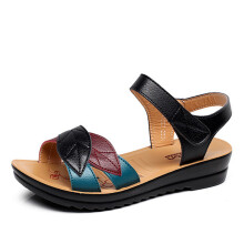 Jantens Shoes Woman Sandals Mother Summer Shoes 2018 Open Toes Wedges Casual Female Platform Shoes Soft Sandalias