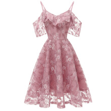 Xi Diao Fashion Lace Sling Women Dress