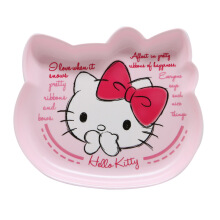TECHNOPLAST Hello Kitty Fancy Revolution Cake Plate 7'' - Pink