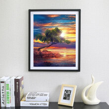 [COZIME] Y018 DIY Cross Stitch Setting Sun Embroidery For Home Wall Decoration Multicolor
