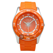 LORUS Jam Tangan - Orange Silver - Silicon - R2353HX9