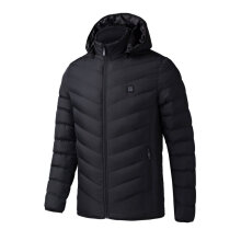 Electric Heated Man Jacket Vest Woman Coat Feather Thermal Softshell Jacket black S