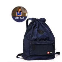 Runetz R-1009 Lightweight waterproof nylon backpackwith Drawstring Design travel bag(45*15*31CM)-Dark Blue
