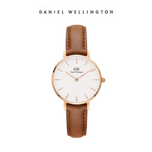 Daniel Wellington Petite Leather Watch Durham White Eggshell White 28mm