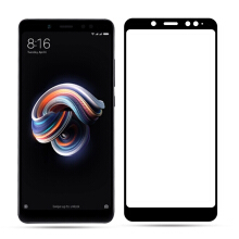 [free ongkir]Full Screen Protector Tempered Glass 2.5D for Xiaomi Redmi Note 5 Pro - Black