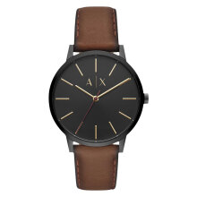 Armani Exchange AX2706 Cayde Black Dial Brown Leather Strap [AX2706]