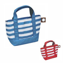 a.latte, Tote Bag S, Striped  B: Red