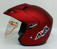 AVA Cruiser Helm Half Face - Red Marron Maroon Doff L
