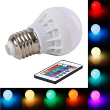Farfi E27 3W RGB Magic Light Bulb Lamp Color Changing 85-265V with IR Remote Control as the pictures