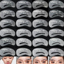 Farfi 24 Styles Eyebrow Models Eyebrows Templates Stencils DIY Makeup Styling Tools as the pictures