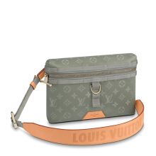 LOUIS VUITTON Monogram Titanium Messenger Bag PM
