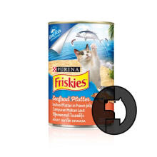 FRISKIES 400 gr adult seafood platter in prawn jelly (can)