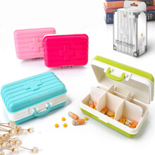 JDWonderfulHouse Honana HN-B18 Travel Pill Box Tablet Organizer Vitamin Medicine Case Create Jewel Storage Boxs